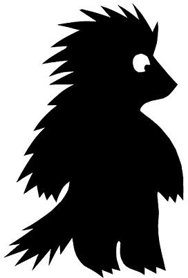 porc-épic animal en théâtre d`ombres ombres chinoises marionnettes silhouettes