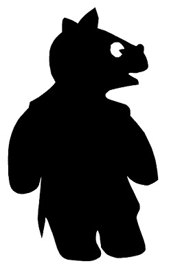 rhinocéros animal en théâtre d`ombres ombres chinoises marionnette silhouette