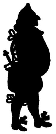 homme en théâtre d`ombres ombres chinoises marionnettes silhouettes
