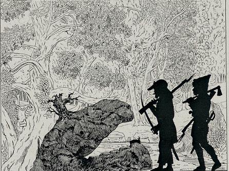 voleurs décor en ombres chinoises théâtre d`ombres marionnettes silhouettes