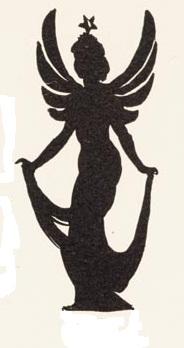 fée femme fille en théâtre d`ombres ombres chinoises silhouettes marionnettes