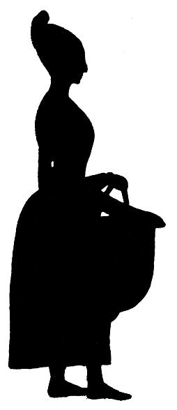 femme en théâtre d`ombres ombres chinoises silhouettes marionnettes