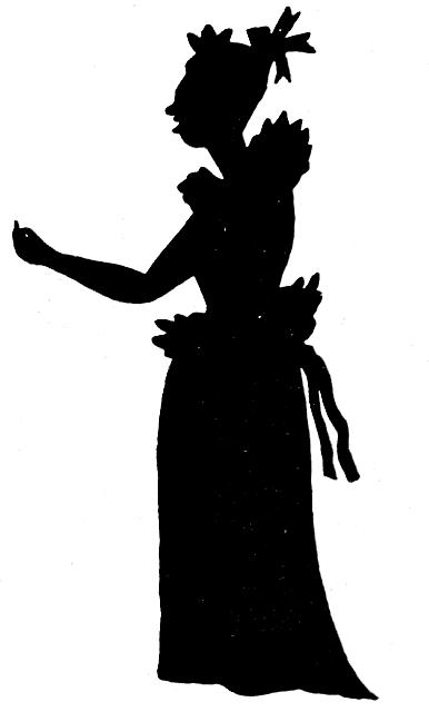 femme fille en théâtre d`ombres ombres chinoises silhouettes marionnettes
