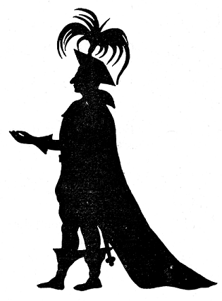 prince en théâtre d`ombres ombres chinoises silhouettes marionnettes