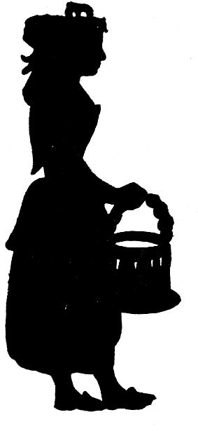 fille femme servante en théâtre d`ombres ombres chinoises silhouettes marionnettes