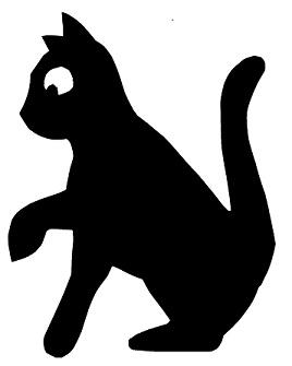 chat en théâtre d`ombres ombres chinoises silhouettes marionnettes