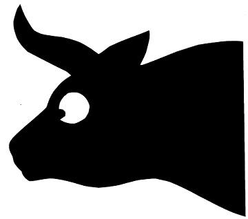 vache animal en théâtre d`ombres ombres chinoises marionnettes silhouettes