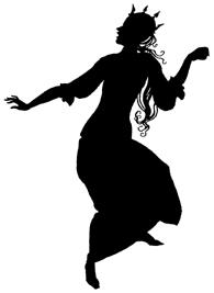reine en théâtre d`ombres ombres chinoises silhouettes marionnette