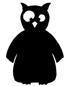 hibou en théâtre d`ombres ombres chinoises silhouette marionnette