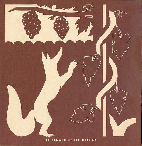 le renard et les raisins silhouettes ombre chinoise theatre d`ombres