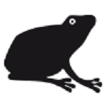 grenouille animal en théâtre d`ombres chinoises silhouettes marionnettes