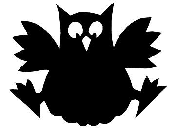 hibou oiseau en theatre d`ombres ombres chinoises silhouettes marionnettes