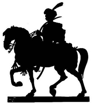 hussazrd, cavalier, cheval, guerre, empire, ombres chinoises, theatre d`ombres silhouettes, marionnettes, louis morin
