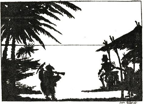 ile déserte Jean Kerhor en theatre d`ombres ombres chinoises silhouettes marionnettes