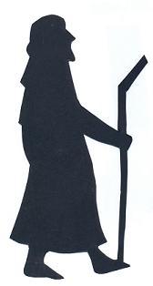 Joseph  bible nativité en théâtre d`ombres ombres chinoises silhouettes marionnettes