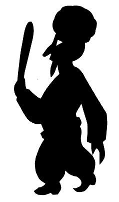 karagoz homme musicien en ombres chinoises théâtre d`ombres silhouettes marionnette