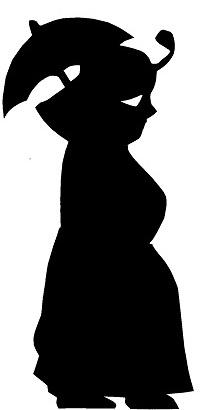 femme karagoz en théâtre d`ombres ombres chinoises marionnettes silhouettes