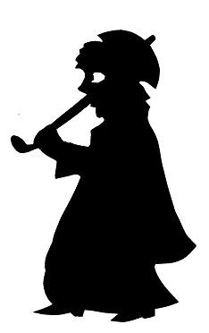 karagoz femme en ombres chinoises théâtre d`ombres silhouettes marionnette
