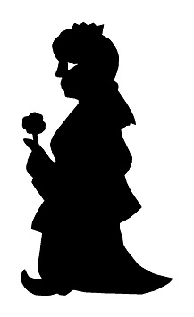 karagoz femme en ombres chinoises théâtre d`ombres silhouettes marionnettes