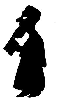 juriste karagoz en théâtre d`ombres ombres chinoises marionnettes silhouettes