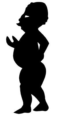 lutteur homme karagoz en théâtre d`ombres ombres chinoises marionnettes silhouettes