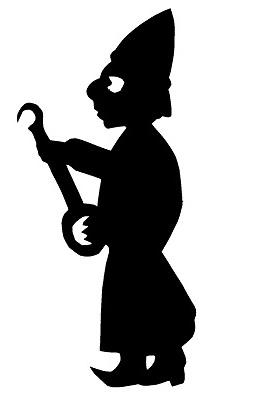 musicien homme karagoz en théâtre d`ombres ombres chinoises marionnettes silhouettes