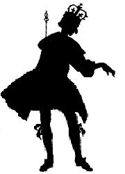 roi en ombres chinoises, silhouettes, théâtre d`ombres, marionnettes, Rackham