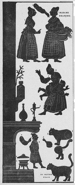 L`embarras du ménage Séraphin planche d`ombres théâtre d`ombres ombres chinoises silhouettes marionnettes