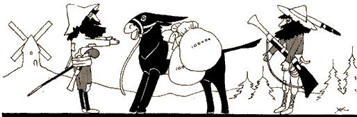 les deux mulets, fable en ombres chinoises, theatre d`ombres, silhouettes, marionnettes