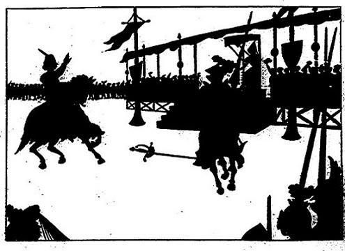 tournoi en théâtre d`ombres ombres chinoises marionnettes silhouettes