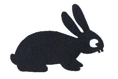lièvre en ombre chinoise théâtre d`ombres silhouette marionnette