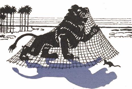 le lion et le rat, fable en ombres chinoises, theatre d`ombres, silhouettes, marionnettes, droits réservés