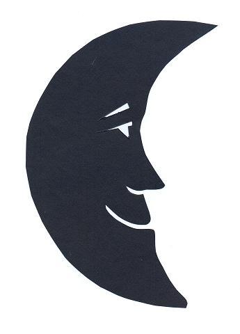 lune en théâtre d`ombres ombres chinoises silhouettes marionnettes