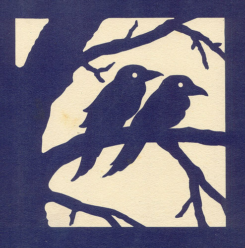 oiseaux en image silhouette
