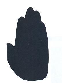 main en théâtre d`ombres ombres chinoises marionnettes silhouette