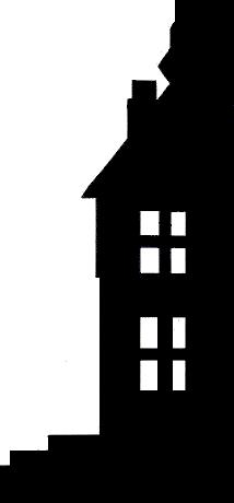 maison, décor en ombres chinoises, theatre d`ombres, silhouettes, marionnettes