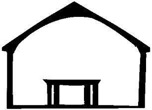 maison en théâtre d`ombres chinoises silhouettes
