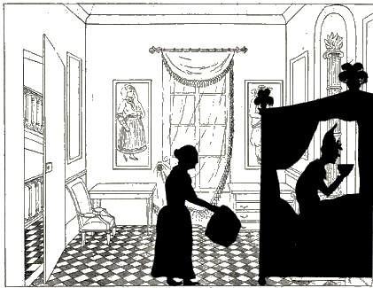 le malade imaginaire, paul eudel, pièce de theatre d`ombresn ombres chinoises, silhouettes, marionnettes