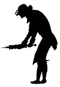 homme, le malade imaginaire, paul eudel, pièce de theatre d`ombresn ombres chinoises, silhouettes, marionnettes, lavement, seringue