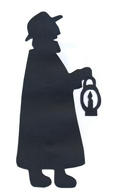 hompme en théâtre d`ombres ombres chinoises marionnettes, silhouettes