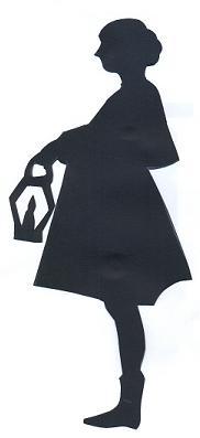 femme en théâtre d`ombres ombres chinoises marionnettes, silhouettes