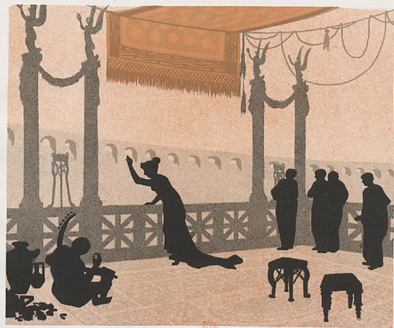 messaline, ombres chinoises, theatre d`ombres silhouettes, marionnettes, louis morin