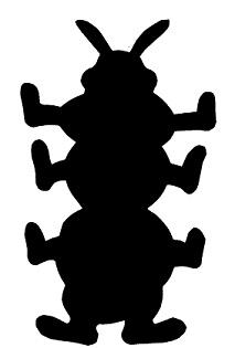 mille-pattes en théâtre d`ombres ombres chinoises silhouette marionnette