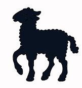 mouton bible nativité en théâtre d`ombres ombres chinoises silhouettes marionnettes