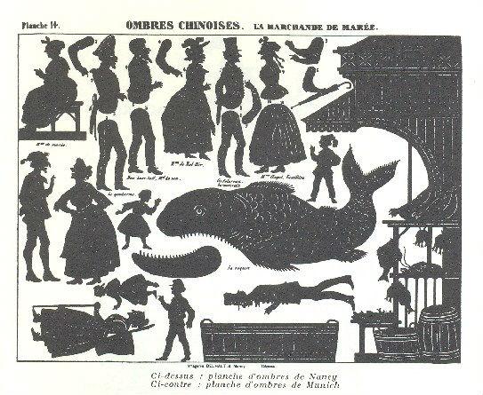 la marchande de maree silhouettes ombres chinoises theatre d`ombres