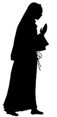 Marie vierge bible nativite noel en theatre d`ombres ombres chinoises marionnettes silhouettes