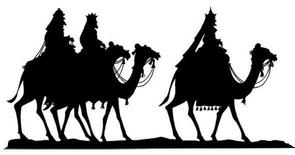 rois mages bible nativite noel en theatre d`ombres ombres chinoises marionnettes silhouettes