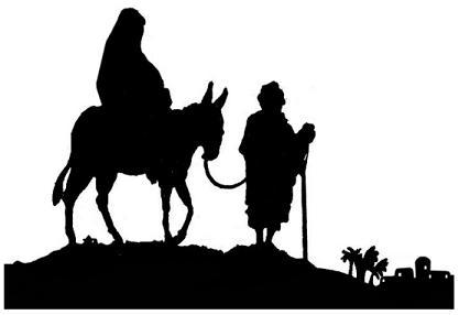 Joseph marie ane bible nativite noel en theatre d`ombres ombres chinoises marionnettes silhouettes