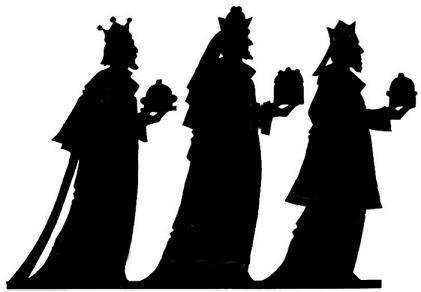 rois mages adoration bible nativite noel en theatre d`ombres ombres chinoises marionnettes silhouettes