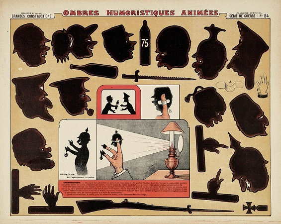 ombres humoristiques animées, ombres chinoises, guerre franco allemande 1914 1918, theatre d`ombres, silhouettes
